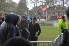 Of course this been a summer Irish event, there were periodic hail showers