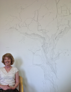 Artist Kathy Herbert and her 'House Tree' wall drawing (2013)