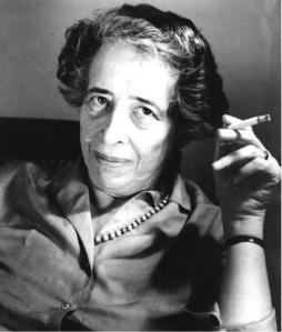 Hannah Arendt, author of The Origins of Totalitarianism (1951)