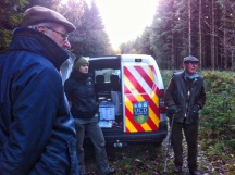 UCD Forest doctoral researcher Lucie Vítková has set up the tree marking training day