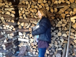 From our 2.5 acres we get an astonishing 70 tonnes of firewood every three years - Hollywood is such a clever young forest!!