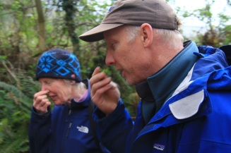 Mary and Martin sniffing... wild herbs