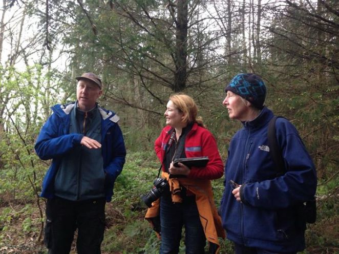 Martin Lyttle Cathy Fitzgerald and Mary White - for the Green Sod Ireland 2014 Earth Day walk