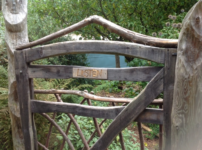 One of the gates to the 'Original Garden' at Findhorn