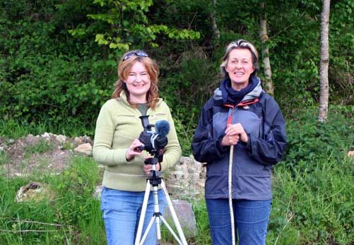 Eco-social artist Cathy Fitzgerald with Crann founder, Jan Alexander in 2005.