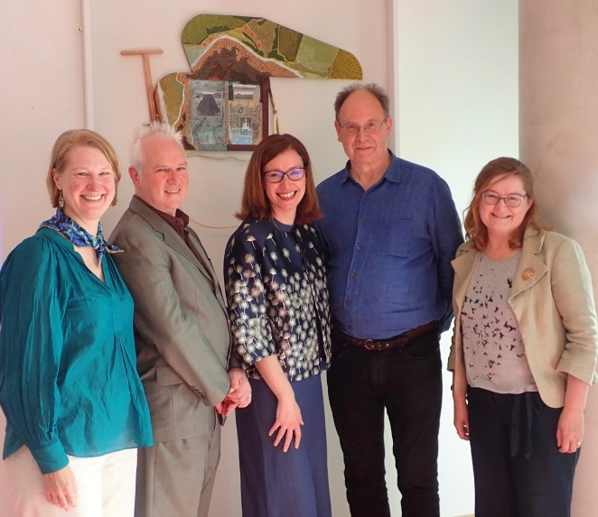 From Left: Prof Karen Till, Prof Gerry Kearns, Cultural Geography, Maynooth University, Dr. Nessa Cronin, Irish Studies, NUIG, Dr. Iain Biggs, Bath Univ, UK and Dr. Cathy Fitzgerald, Moore Institute, NUIG, June 2019
